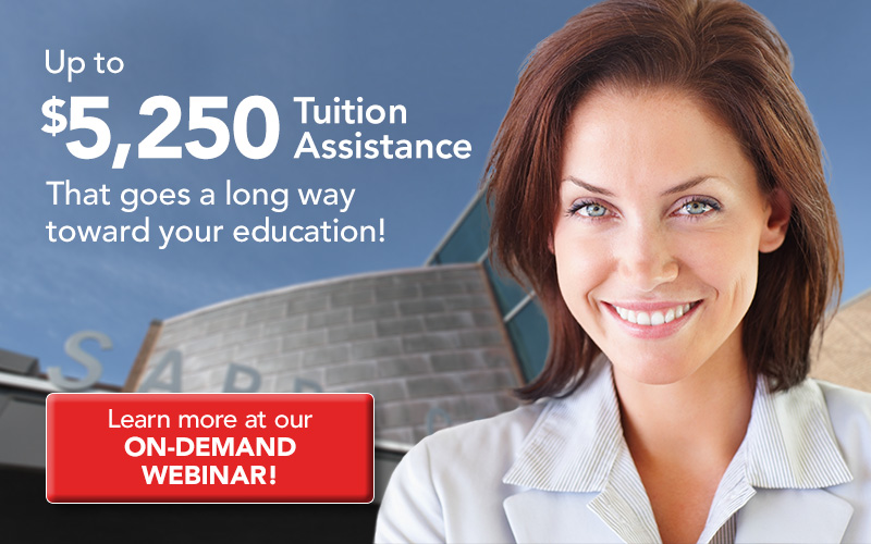 Tuition Assistance that goes a long way toward your career-relevant education!